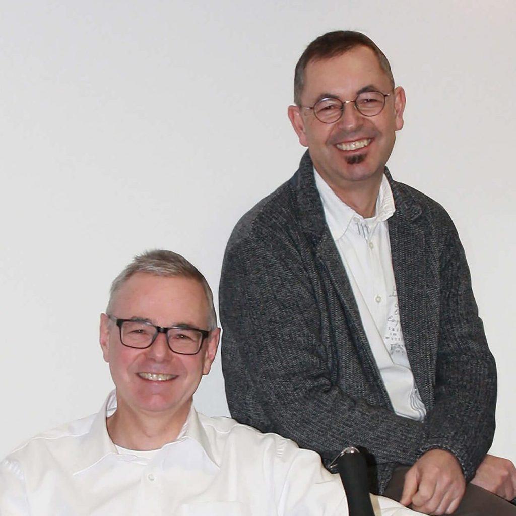 Zu sehen sind die Brüder Christof und Stefan Eul